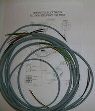 IMPIANTO ELETTRICO ELECTRICAL WIRING MOTO MOTOM DELFINO 160 + SCHEMA ELETTRICO