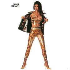 GIANNI VERSACE iconic Gold Baroque printed evening leggings from ss 1992