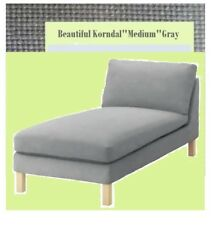 IKEA Karlstad Chaise Lounge COVER ONLY  FREESTANNDING Korndal Medium Gray NEW