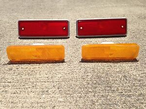 NEW Front and Rear Side Marker Lens Light Set of 4 1982-1987 El Camino