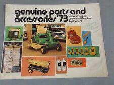 1973 John Deere garden Tractor Mower Parts & Accessories Catalog Rare Vintage #1