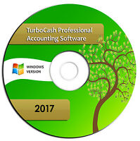 NEW 2017 Professional Accounting Software-Turbocash Books Alternative-Windows CD