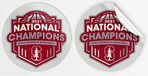 2021 STANFORD CARDINAL NATIONAL CHAMPIONS VINYL DECAL WOMEN'S FINAL FOUR CHAMPS