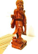 """Asian God Of Wisdom - Fukurokuju- 16.5"""" Tall Carved Wood"""