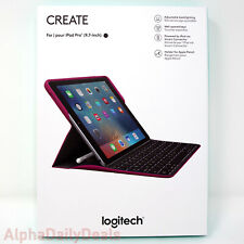 Logitech Backlit Keyboard Case with Smart Connector for iPad Pro 9.7 Plum