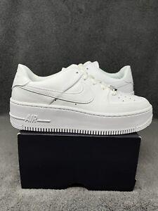 NEW Nike Women's Air Force 1 Sage Low 2021 Triple White AR5339-100 Size 7.5 W