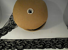 75 yards Black Elastic Clothing Embellishment Sewing Stretchable Lace 3 1/2 wide