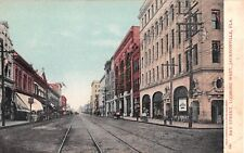 c.1905 Stores Bay St. looking West Jacksonville FL post card