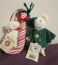 Lot of 2 Boyds Christmas pieces Pip Sweet Ornament and Tweek McSnoozle Ornament