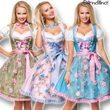 70035 Dirndl Tüll Blumen Schürze Trachtenkleid Mini Kleid Oktoberfest Tracht