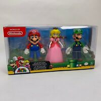 World of Nintendo Mushroom Kingdom Pack 3 Figures - Mario Luigi & Peach - Jakks