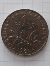 France 1 francs 1960 . semeuse . TB