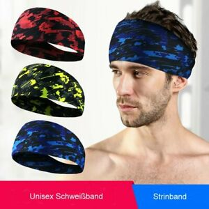Unisex Schweißband Sport Fitness Jogging Laufen Stirnband Headband sofort TD004