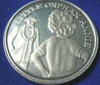 Vtg Little Orphan Annie Daddy Warbucks .999 Silver 1 oz Round Coin Eagle 112