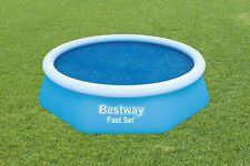 BESTWAY 8FT FAST SET SOLAR POOL COVER SUMMER SOLAR POWER HEAT  POOL NOT INCLUDED