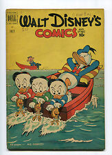 WALY DISNEY COMICS AND STORIES #130 (4.0) EGGBEATER BOAT 1951