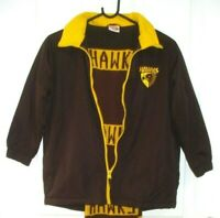 HAWTHORN HAWKS FOOTBALL CLUB SIZE 8 ZIP UP JACKET WITH BONUS SCARF FREE POSTAGE