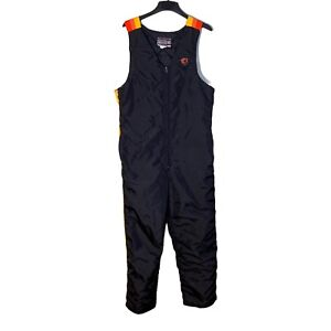Vintage Arctic Cat Arcticwear Snowmobile Bibs Pants Size L Black, Orange, Y