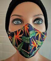 Design Mund - Nase - Schutzmaske, 3-Lagig mit Nasenbügel, Handarbeit  waschbar