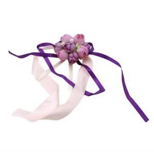 Stage Wrist Corsage Imitation Pearl Rose Prom Elegant Bride Wrist Flower SL