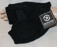 Isotoner Signature Chunky Solid Flip Top Sherpa Lined Black Mittens NEW