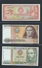 Pérou  Lot de 3 billets différents  en état NEUF Lot Numéro 2