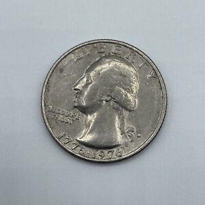 """Rare 1776-1976 Denver """"Filled D"""" Error Bicentennial Quarter"""