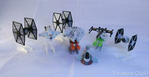 7 DIFFERENT HOT WHEEL STAR WARS SPACE FIGHTERS-2 Shoot Missiles 7 W/Finger Mts.