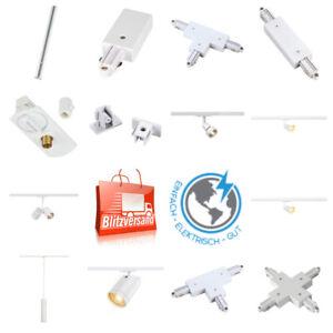 SLV 1Phasen Hochvolt-Schienensystem weiß/Lampen/Verbinder/Zubehör/ frei Wählbar