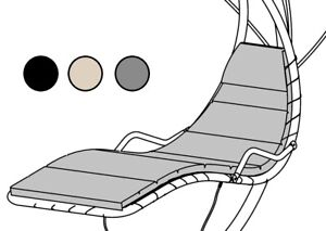 HELICOPTER DREAM SWING CHAIR HAMMOCK REPLACEMENT CUSHION GREY, BLACK OR BEIGE