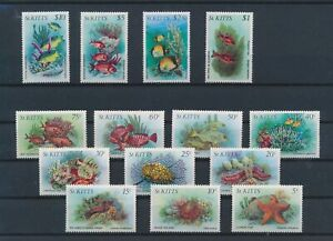 LN31639 St Kitts fish shell coral sealife fine lot MNH