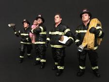 FIREFIGHTERS 4PC FIGURE SET 1:24 AMERICAN DIORAMA 77509,77510,77511,77512