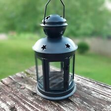 Beautiful Decorative Black Metal and Glass Lantern