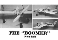 """Model Airplane Plans (UC): BOOMER 58"""" Profile Stunt for .35 Engine"""