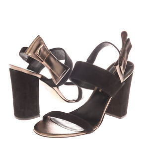 RRP €115 FEDERICA STELLA Leather Slingback Sandals EU 38 UK 5 US 8 Made in Italy