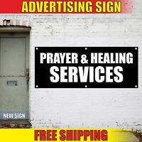 Church Banner Advertising Vinyl Sign Flag PRAYER HEALING SERVICES worship Jesus