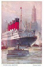 NEW Postcard Cunard RMS Aquitania, Boat, Ship 1M