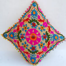 SUZANI VINTAGE EMBROIDERY CUSHION COVER WHOLESALE INDIAN  ETHNIC THROW PILLOW 72