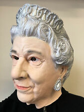 Queen Elizabeth of England Mask Full Head English Royal Family Fancy Dress Masks
