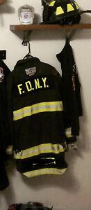 FDNY Morning Price NYFD Black Turnout Bunker Coat New York Fire Department TV