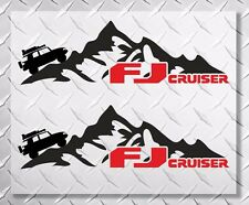 Mountains side 2 colors vinyl decal sticker fits to fj cruiser