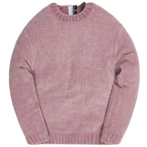 Kith Meyer Chenille Crewneck Sweater Pale Mauve Size Medium Deadstock New In Bag