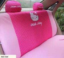 NEW 2017 4Pcs Hot Pink Hello Kitty Car Seat Cover Back Interior Accessories Car