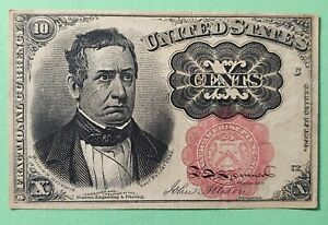 1874 Fifth Issue 10c U.S. Fractional Currency Bill - Ten Cents