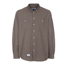 Reell Nordic Shirt Langarmhemd Freizeithemd Streetwear Brown Braun Gr. L