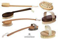 Redecker Treated Wood Bath, Shower or Massage Exfoliating Brush Brushes