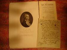 Révolution Lettre autographe  Gorsas de Limoges1791 sur un journaliste courageux