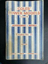 Vintage catalog Coles Power Models Accessories No 21 1970 model trains steam eng