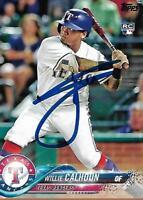 Willie Calhoun Texas Rangers 2018 Topps Rookie Signed Card