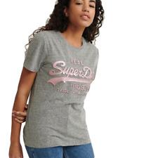 T shirt Superdry Vintage logo Femme Gris